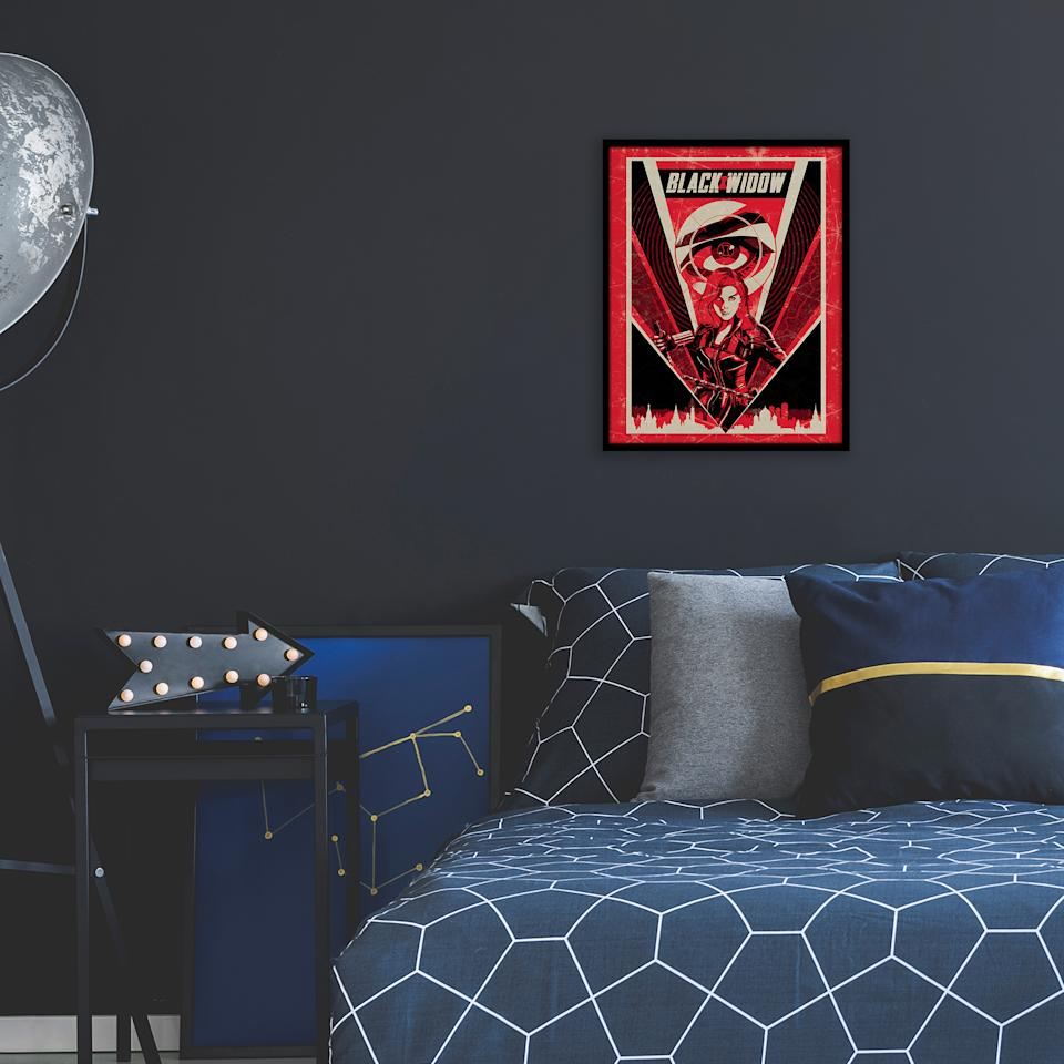 Add some color to your walls with 'Black Widow' wall art (Photo: Disney Dcpep)