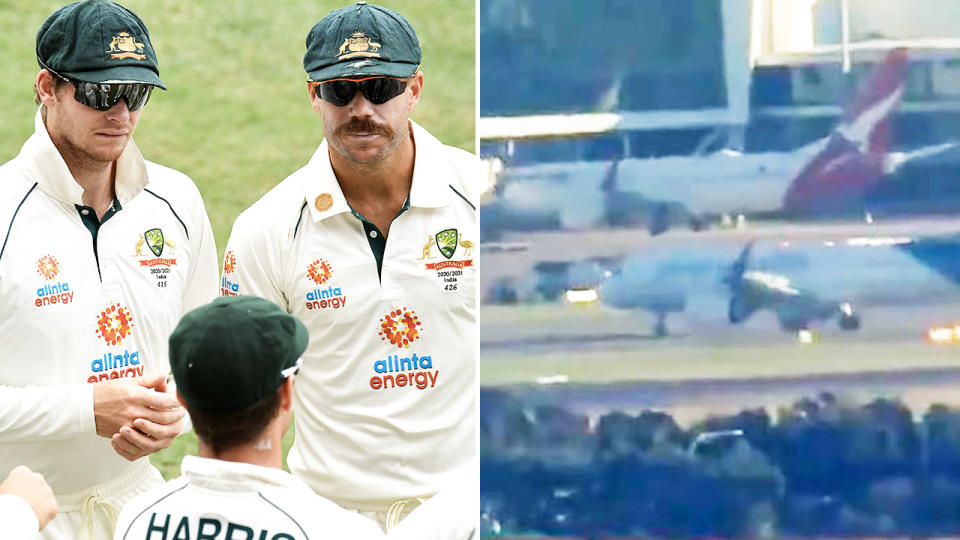 Australia's IPL contingent, pictured here touching down in Sydney.
