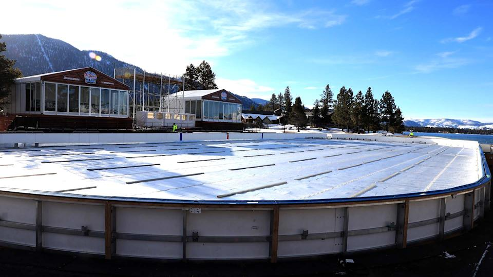 The NHL is heading outdoors at Lake Tahoe this weekend. (Photo by Collin Kornfeind/NHLI via Getty Images)