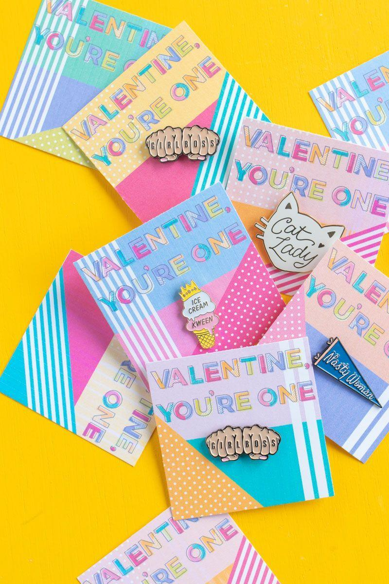"<p>Back in the day, teenagers once ""pinned"" their sweethearts to show their devotion. Now, you can ""pin"" your significant other—or even just a friend—with these pastel printable cards. Just attach some cute pins and you're all set!</p><p><strong>See more at <a href=""https://www.clubcrafted.com/printable-pin-cards/"" rel=""nofollow noopener"" target=""_blank"" data-ylk=""slk:Club Crafted"" class=""link rapid-noclick-resp"">Club Crafted</a>.</strong></p><p><a class=""link rapid-noclick-resp"" href=""https://go.redirectingat.com?id=74968X1596630&url=https%3A%2F%2Fwww.walmart.com%2Fip%2FRed-Heart-Pin-Party-Favors-12-Pieces%2F946416314&sref=https%3A%2F%2Fwww.thepioneerwoman.com%2Fhome-lifestyle%2Fcrafts-diy%2Fg35084525%2Fdiy-valentines-day-cards%2F"" rel=""nofollow noopener"" target=""_blank"" data-ylk=""slk:SHOP HEART PINS"">SHOP HEART PINS</a></p>"