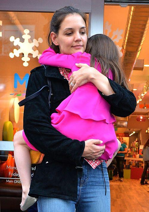 Katie and Suri on an outing earlier this year. Credit: Getty Images