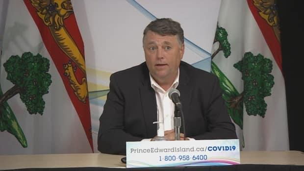 P.E.I. Premier Dennis King says he is confident the COVID-19 outbreak at West Royalty Elementary has been contained.  (Shane Hennessey/CBC - image credit)