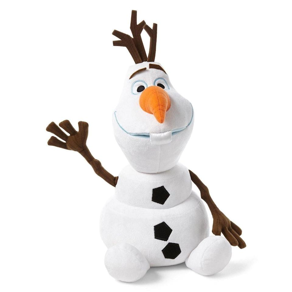 <p>Fans of <strong>Frozen</strong> will adore this <span>Olaf Plush</span> ($28).</p>