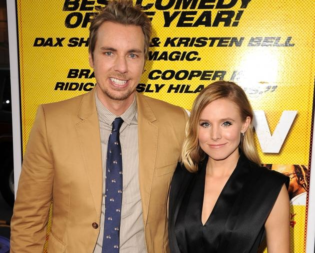 Dax Shepard and Kristen Bell arrives at the 'Hit & Run' Los Angeles Premiere in Los Angeles on August 14, 2012 -- Getty Premium