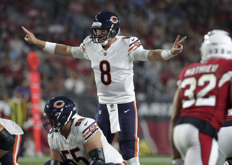 Mike Glennon threw another costly interception in Chicago's second preseason game. (AP)