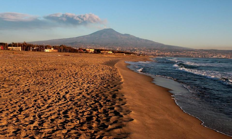 Etna's south-east crater, photographed from Catania.