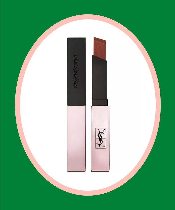 """<br><br><strong>Yves Saint Laurent</strong> The Slim Glow Matte Lipstick, $, available at <a href=""""https://go.skimresources.com/?id=30283X879131&url=https%3A%2F%2Fwww.macys.com%2Fshop%2Fproduct%2Fyves-saint-laurent-the-slim-glow-matte-lipstick%3FID%3D11333680%26CategoryID%3D30077%26isDlp%3Dtrue"""" rel=""""nofollow noopener"""" target=""""_blank"""" data-ylk=""""slk:Macy's"""" class=""""link rapid-noclick-resp"""">Macy's</a>"""