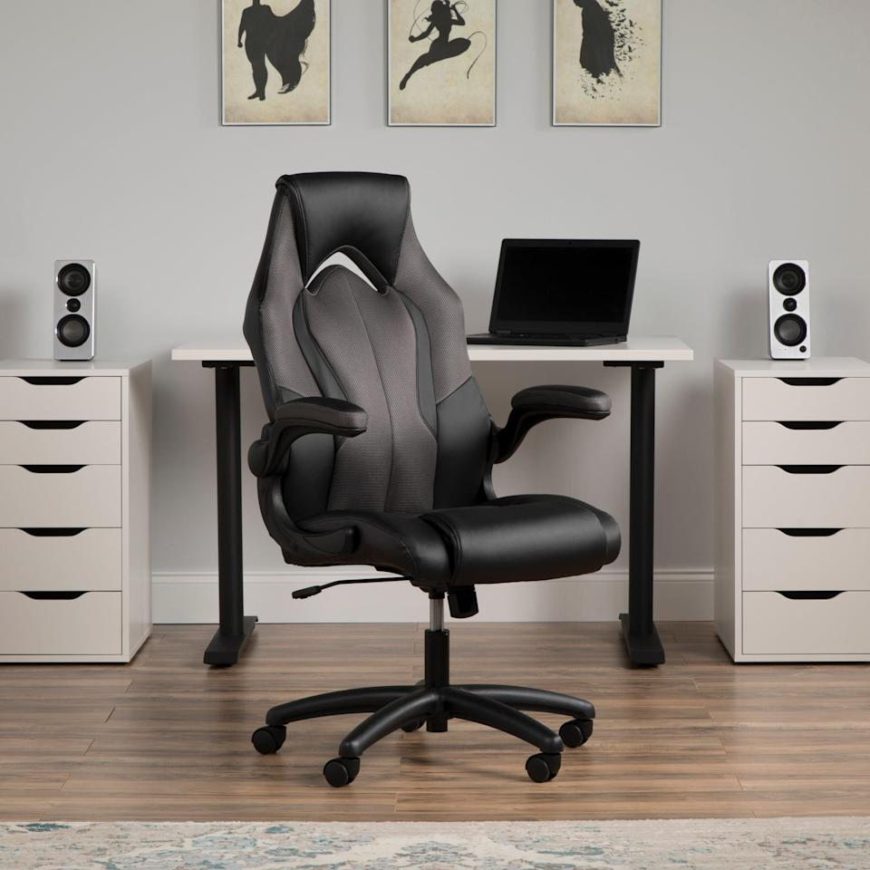 "<h2>OFM High-Back Racing Style Gaming Chair</h2> <br><strong>Best For: Non-Gamers Who Want Serious Support</strong><br>If you want gamer-level body support but without the game style, let this mom-approved option serve you — it comes crafted with a high-back, ergonomic racing frame made from durable and padded bonded leather.<br><br><strong>The Hype: </strong>4.6 out of 5 stars and 694 reviews on <a href=""https://www.walmart.com/ip/OFM-Essentials-Collection-High-Back-Racing-Style-Bonded-Leather-Gaming-Chair-in-Gray-ESS-3086-GRY/462570303"" rel=""nofollow noopener"" target=""_blank"" data-ylk=""slk:Walmart"" class=""link rapid-noclick-resp"">Walmart</a><br><br><strong>Comfy Butts Say: </strong>""I really wanted this chair a couple of years ago but did not have a home office that I really needed it for. My oldest son ended up buying it on sale for himself last year and it is still going strong (he uses it a LOT). We ended up getting the same chair for our other kids and my husband and I — since we are now working from home. Plus, with all the color options we each have our own color so nobody can say so-and-so took my chair. (Yes, we have kids! LOL!) As a note, I have severe back problems in my lower back and I can sit in this chair for 8-10 hours a day with no problem. :)""<br><br><strong>OFM Essentials Collection</strong> High-Back Racing Style Bonded Leather Gaming Chair, $, available at <a href=""https://go.skimresources.com/?id=30283X879131&url=https%3A%2F%2Fwww.walmart.com%2Fip%2FOFM-Essentials-Collection-High-Back-Racing-Style-Bonded-Leather-Gaming-Chair-in-Gray-ESS-3086-GRY%2F462570303"" rel=""nofollow noopener"" target=""_blank"" data-ylk=""slk:Walmart"" class=""link rapid-noclick-resp"">Walmart</a><br><br><br><br><br><br>"