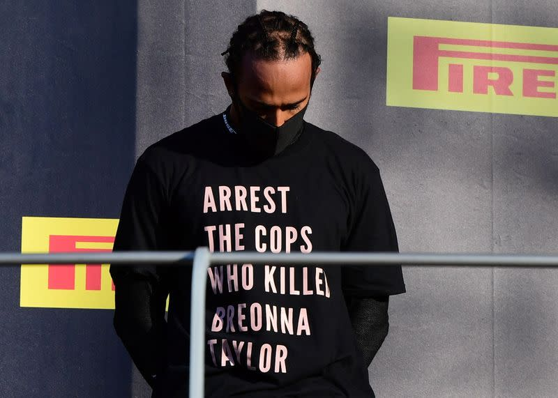 Formula One moves to rule out repeat of Hamilton's Breonna Taylor T-shirt