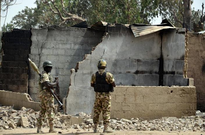 Boko Haram attacks in Nigeria are believed to be reprisals over the successes by the Nigerian troops who have pushed the jihadists from swathes of territory they had seized (AFP Photo/STRINGER)