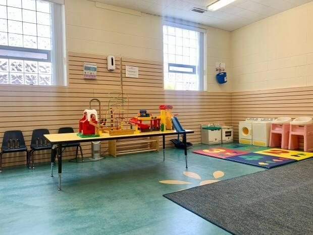 Connection Early Years Family Centre in Windsor-Essex has extended its free unlicensed child care services to families in high priority neighbourhoods who need to attend a COVID-19 vaccine appointment.  (Submitted by Kyrstin Goulding - image credit)