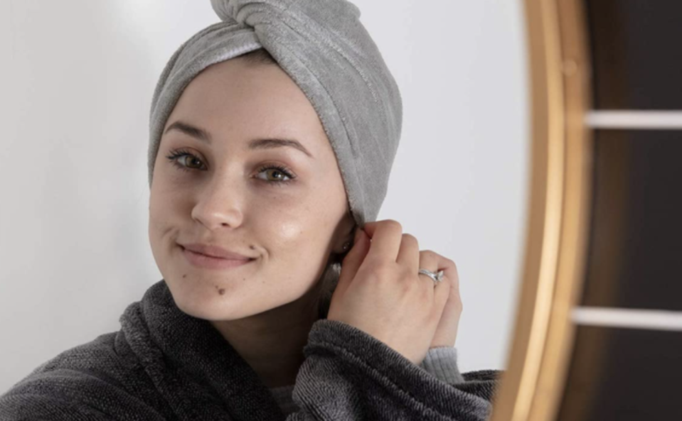 This microfibre hair towel will prevent frizz — and it's on sale right now.
