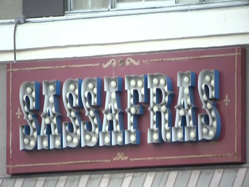 The LAPD confirmed that two officers attended a party at Sassafras Saloon last week: (KCAL 9)