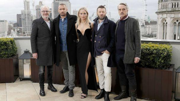 PHOTO: Francis Lawrence, Matthias Schoenaerts, Jennifer Lawrence, Joel Edgerton and Jeremy Irons during the 'Red Sparrow' photocall at The Corinthia Hotel on Feb.20, 2018 in London. (John Phillips/Getty Images)