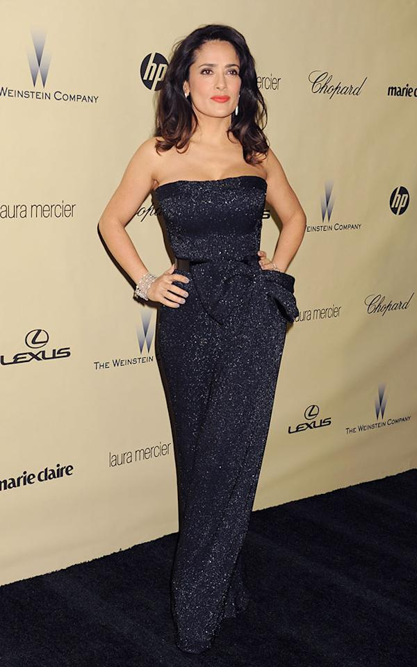 Salma Hayek attends The Weinstein Company's 2013 Golden Globes After Party held at The Old Trader Vic's in The Beverly Hilton Hotel on January 13, 2013 in Beverly Hills, California.