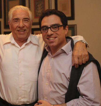 Iranian-American consultant Siamak Namazi (R) is pictured with his father Baquer Namazi in this undated family handout picture. Iranian authorities this week arrested the elderly father of an American jailed in Iran since October 2015, the man's family said on February 24, 2016. REUTERS/Handout via Reuters