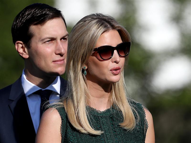 Ivanka Trump and Jared Kushner have come under scrutiny for using personal email accounts in office: Getty Images