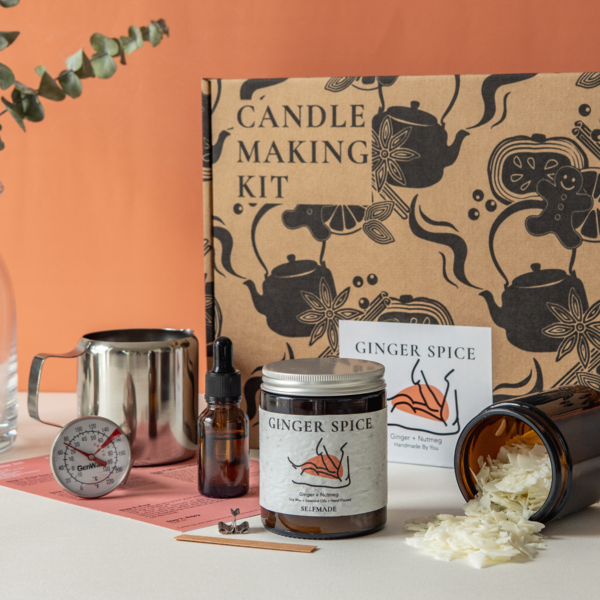 """<p><a class=""""link rapid-noclick-resp"""" href=""""https://selfmadecandle.com/collections/candle-making-kit-uk/products/ginger-spice-christmas-candle-making-kit"""" rel=""""nofollow noopener"""" target=""""_blank"""" data-ylk=""""slk:SHOP NOW"""">SHOP NOW</a></p><p>Why make a gingerbread house when you can make a gingerbread candle? The ultimate DIY experience for any beauty fanatic, Selfmade features 100% soy wax, recycled or recyclable packaging and you can even plant the label and watch it grow into a plant - perfect for eco warriors out there. </p>"""