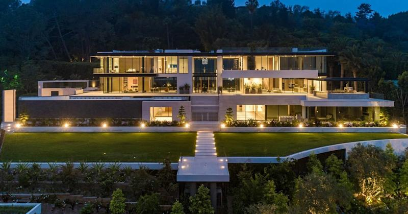 A view of the exterior of Raj Kanodia's $180 million megamansion.