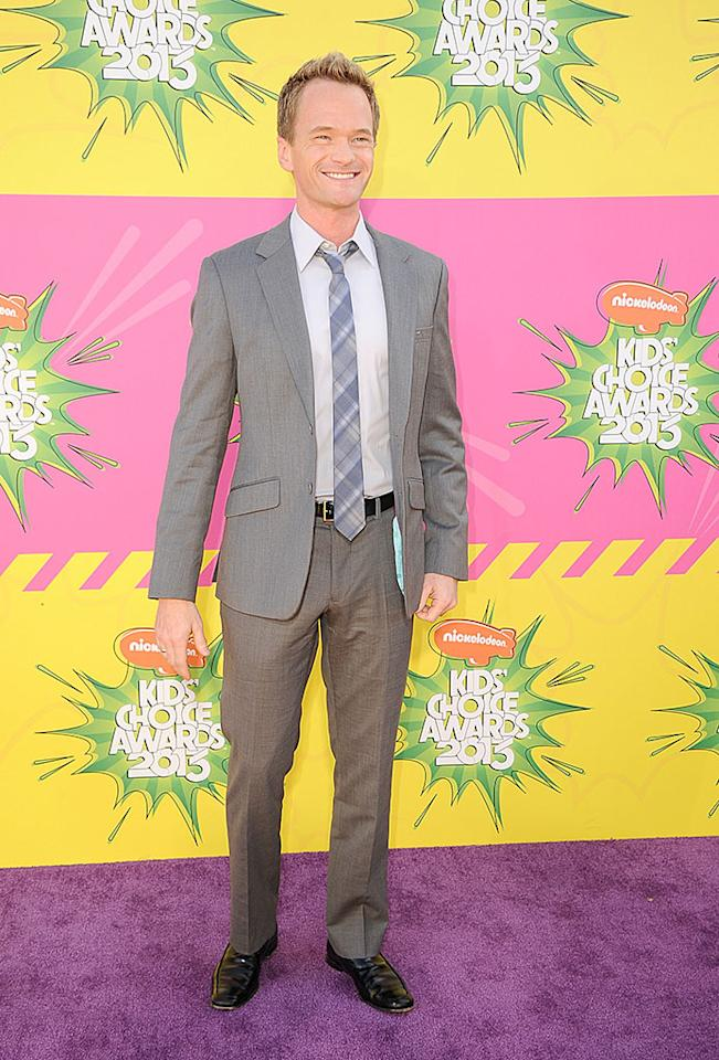 """How I Met Your Mother's"" Neil Patrick Harris was all smiles in his suit and plaid tie."