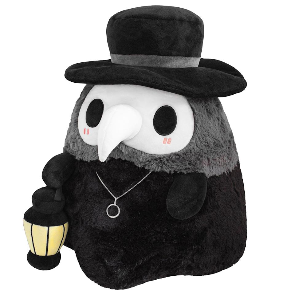 """Teddy bears are OK, but sometimes you just want snuggle with a <a href=""""https://www.squishable.com/mm5/merchant.mvc?Screen=PROD&Product_Code=mini_plague_doctor_7"""" target=""""_blank"""" rel=""""noopener noreferrer"""">plague doctor,</a> right? (Please don't tell me I'm wrong.)"""