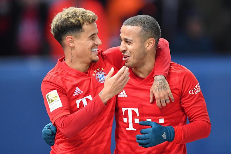 Thiago helped Bayern sweep aside Lampard's Chelsea in the Champions League last season Photo: Bongarts/Getty Images