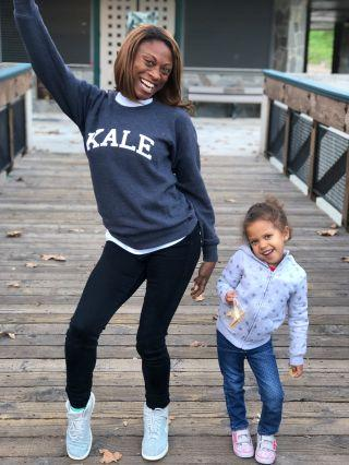 Angelina Spicer and daughter Ava