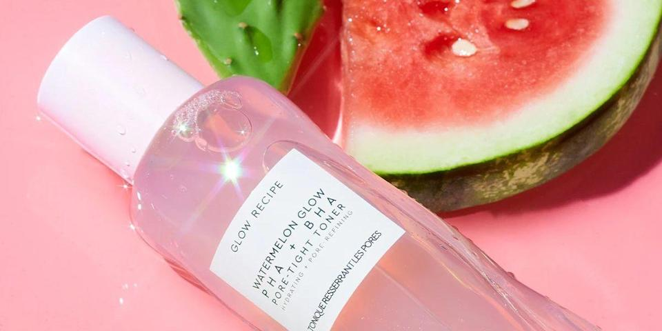 """<p>We all know that washing our faces is essential for clearing your skin of daily dirt and debris. But, did you know your cleansing routine doesn't — or rather, <em>shouldn't</em> — stop at your daily face wash? If you want to give your pores a deeper cleanse, then it's time to grab a facial toner to revitalize your complexion.</p><h3 class=""""body-h3"""">What is a Face Toner?</h3><p>Toners are not only your last step of cleansing before you go into treatment mode on your skin, but they can work wonders to <a href=""""https://www.mydomaine.com/best-anti-aging-toners"""" rel=""""nofollow noopener"""" target=""""_blank"""" data-ylk=""""slk:shrink pores"""" class=""""link rapid-noclick-resp"""">shrink pores</a>, <a href=""""https://www.bestproducts.com/beauty/g1838/benzoyl-peroxide-acne-treatment/"""" rel=""""nofollow noopener"""" target=""""_blank"""" data-ylk=""""slk:minimize acne"""" class=""""link rapid-noclick-resp"""">minimize acne</a>, and <a href=""""https://www.byrdie.com/face-toners-ph-balance"""" rel=""""nofollow noopener"""" target=""""_blank"""" data-ylk=""""slk:balance your pH levels"""" class=""""link rapid-noclick-resp"""">balance your pH levels</a>. But what exactly <em>is </em>a toner, and why do you need one? </p><p>""""Facial toner is a water-based skin care product that's used after cleansing to help hydrate the skin and prepare it for a moisturizer,"""" says cosmetic dermatologist <a href=""""https://www.michelegreenmd.com"""" rel=""""nofollow noopener"""" target=""""_blank"""" data-ylk=""""slk:Dr. Michele Green"""" class=""""link rapid-noclick-resp"""">Dr. Michele Green</a>. """"When used consistently, toners offer a myriad of skin benefits and can contribute to the maintenance of a healthy, radiant complexion.""""<br></p><p>Your skin will feel cleansed and hydrated after using a toner, but that's not the only benefit you'll get from incorporating one into your skincare routine. Dr. Green notes that toners help balance the pH levels of your skin, diminish the appearance of pores, promotes moisture retention, and aids in evening out your skin's overall texture and tone. """"Additiona"""