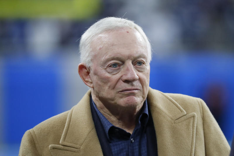 Jerry Jones has been uncharacteristically quiet lately. (AP Photo/Paul Sancya, File)