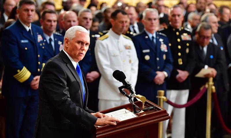 Mike Pence: 'John McCain served his country honorably'.