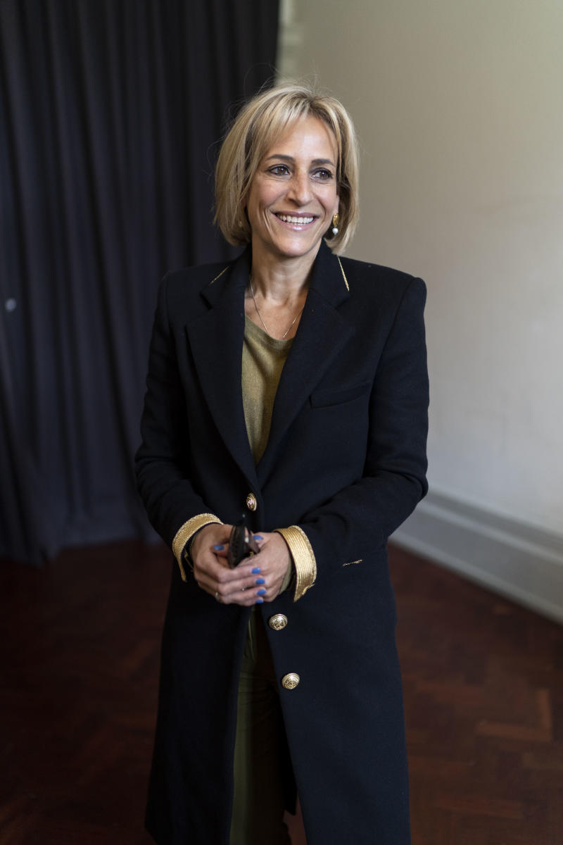 Emily Maitlis, broadcaster, at the Cheltenham Literature Festival 2019 on October 5, 2019 in Cheltenham, England. (Photo by David Levenson/Getty Images)