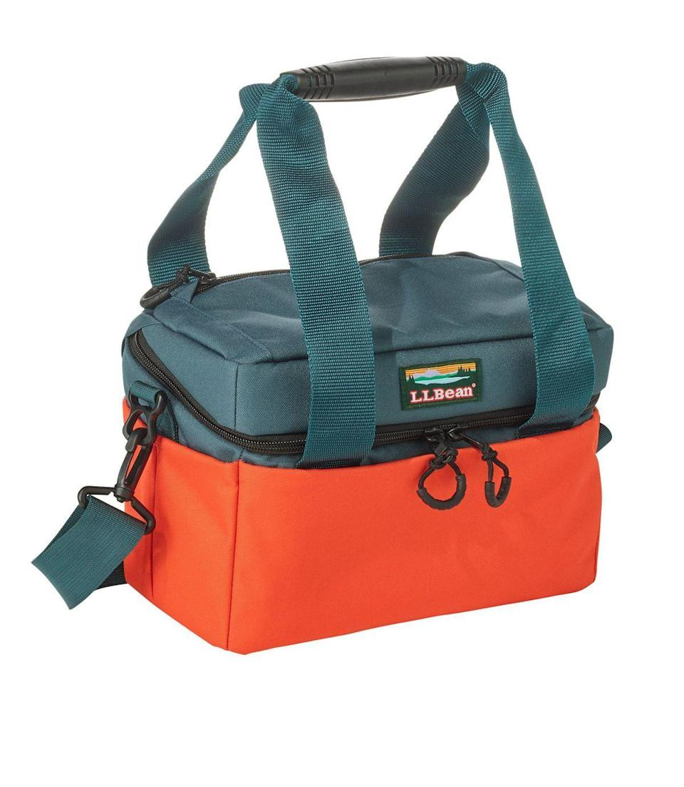 """<p>llbean.com</p><p><strong>$39.95</strong></p><p><a href=""""https://go.redirectingat.com?id=74968X1596630&url=https%3A%2F%2Fwww.llbean.com%2Fllb%2Fshop%2F122259&sref=https%3A%2F%2Fwww.countryliving.com%2Flife%2Fg32364184%2Ffishing-gifts-dad%2F"""" rel=""""nofollow noopener"""" target=""""_blank"""" data-ylk=""""slk:Shop Now"""" class=""""link rapid-noclick-resp"""">Shop Now</a></p><p>Whether he's hauling freshly caught fish or a six pack and snacks, your dad will love (and use!) this soft pack cooler. </p>"""