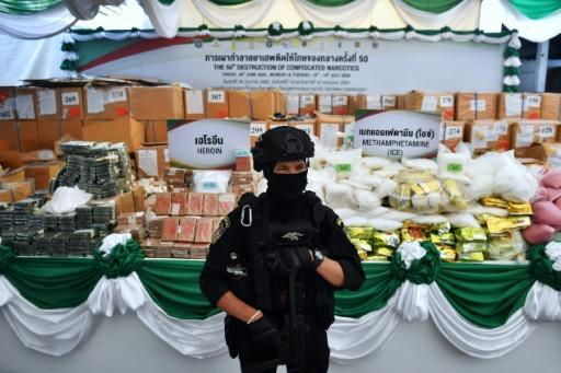 Thai authorities were set to destroy a massive batch of confiscated drugs, including heroin and meth on Friday