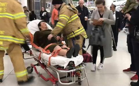 <span>Officials say severe turbulence injured at least 30 people aboard the Turkish Airlines flight&nbsp;</span> <span>Credit: WNBC </span>