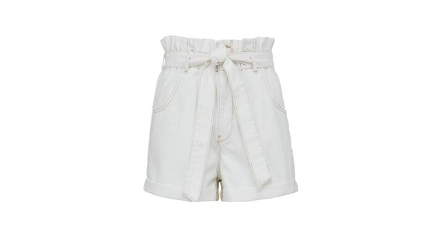 Paperbag Elasticated Waist Denim Shorts