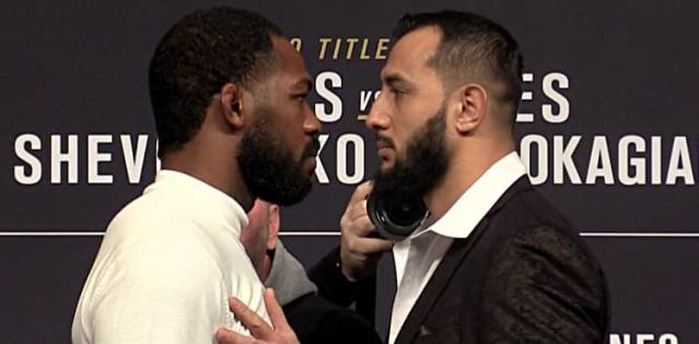 Jon Jones vs Dominick Reyes UFC 247 staredown