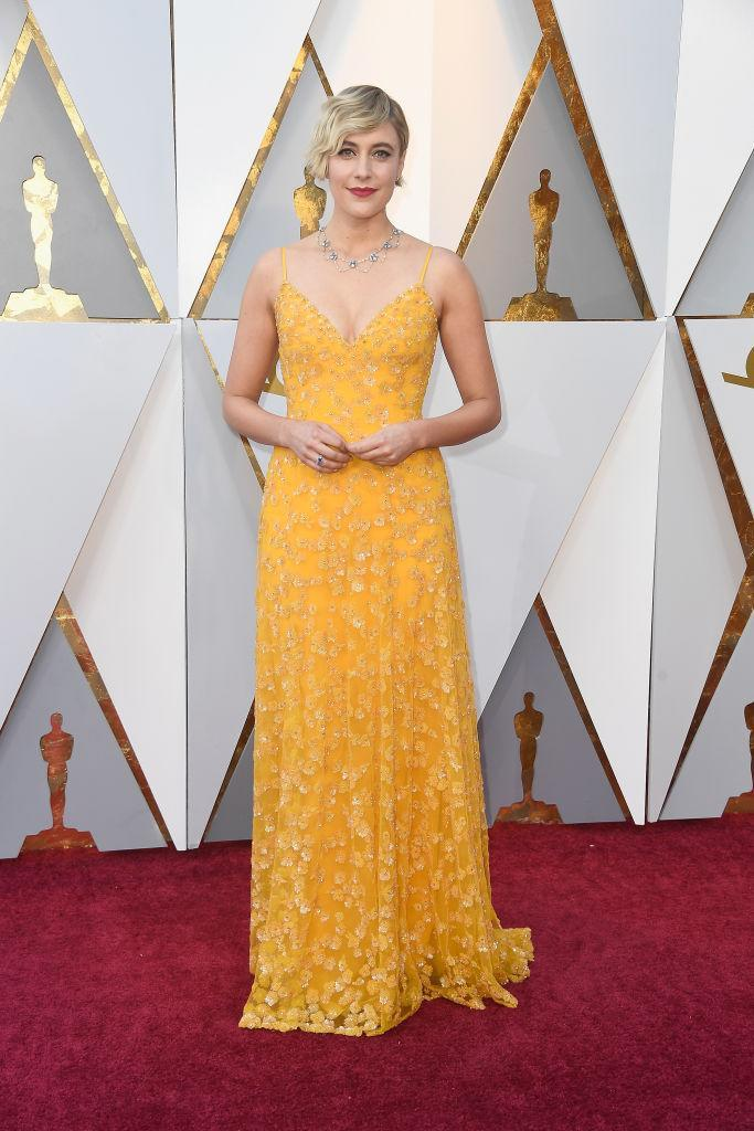 <p>Greta Gerwig attends the 90th Academy Awards in Hollywood, Calif., March 4, 2018. (Photo: Getty Images) </p>