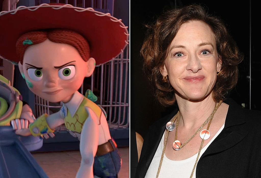 """JESSIE/<a href=""""http://movies.yahoo.com/movie/contributor/1800016005"""">JOAN CUSACK</a>  Joan Cusack is a talented Oscar-nominated actress and comedian, but she can't yodel. For her part as Jessie the Cowgirl, yodeling duty went to actress Mary Kay Bergman."""