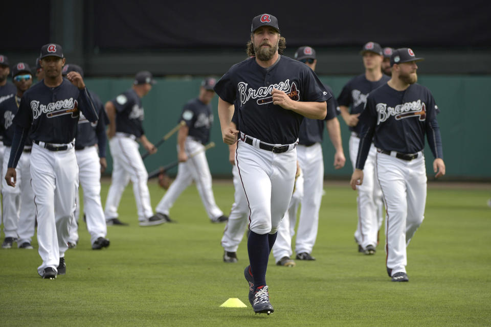 What does R.A. Dickey have left to give the Braves this season? (AP)