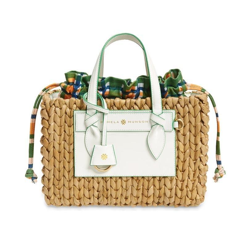 "A gift Jane Birkin would approve of. $350, Nordstrom. <a href=""https://www.nordstrom.com/s/pamela-munson-the-beatrix-straw-handbag/5608356"" rel=""nofollow noopener"" target=""_blank"" data-ylk=""slk:Get it now!"" class=""link rapid-noclick-resp"">Get it now!</a>"