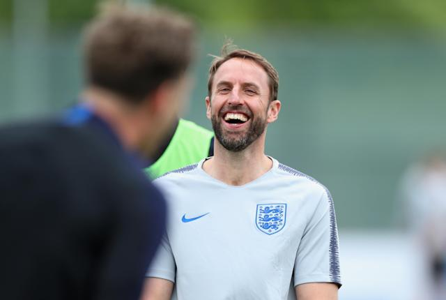 Southgate looked relaxed ahead of the tournament.