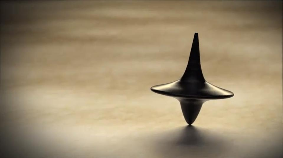 The spinning top at the end of Inception.