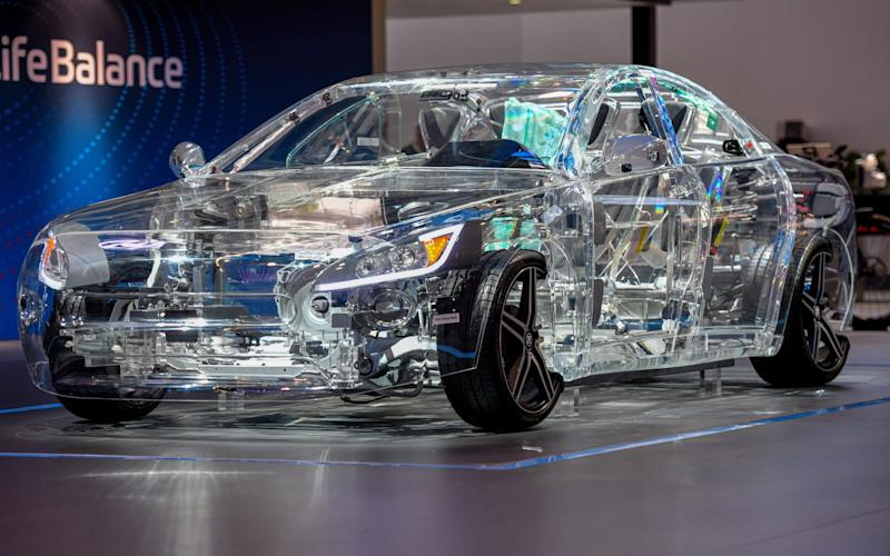 transparent electric car at the 2019 Frankfurt motor show - Sascha Schuermann/Getty Images