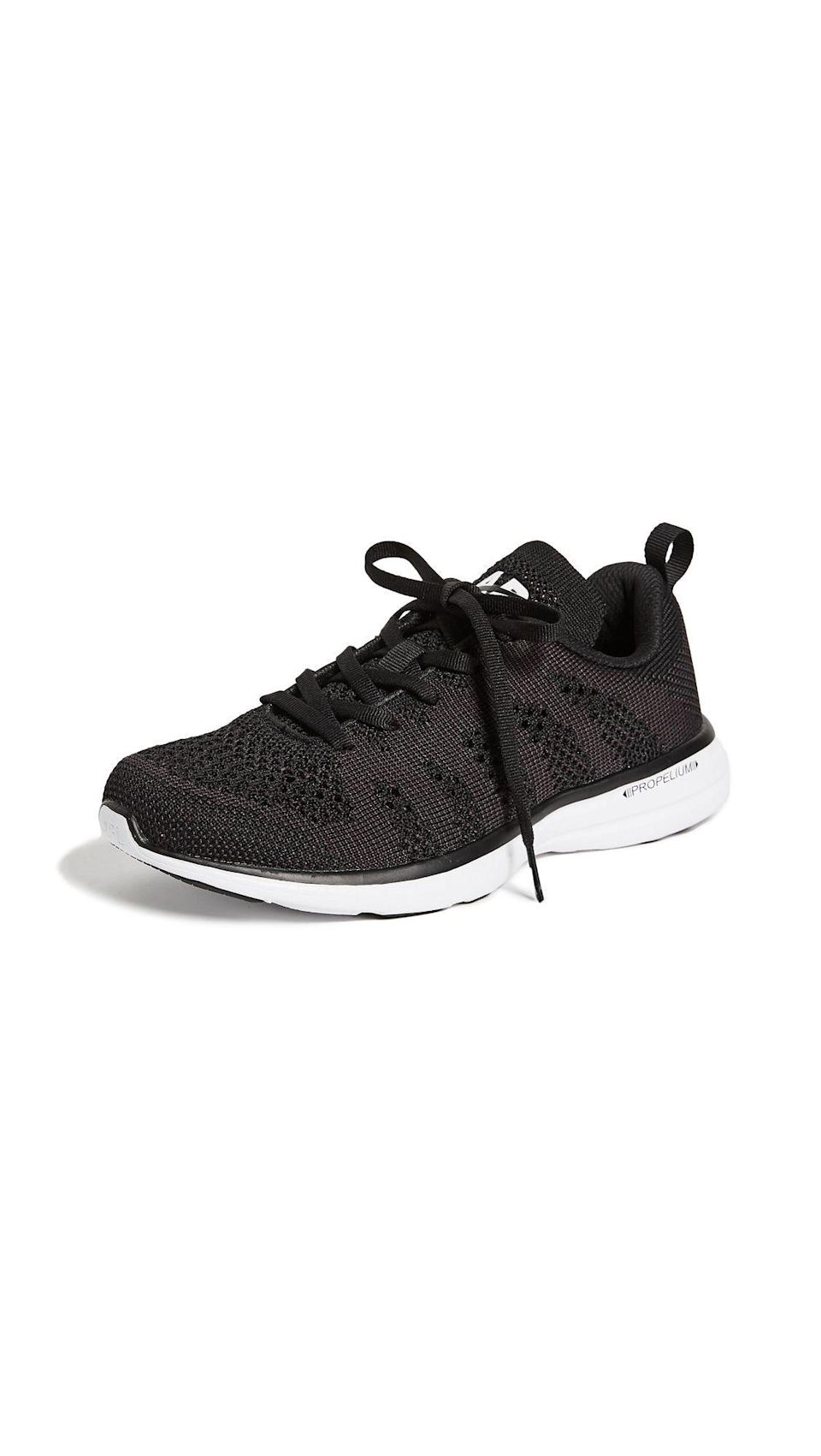 """<p><strong>APL: Athletic Propulsion Labs</strong></p><p>amazon.com</p><p><strong>$140.00</strong></p><p><a href=""""https://www.amazon.com/dp/B0785R93R4?tag=syn-yahoo-20&ascsubtag=%5Bartid%7C10051.g.36317445%5Bsrc%7Cyahoo-us"""" rel=""""nofollow noopener"""" target=""""_blank"""" data-ylk=""""slk:Shop Now"""" class=""""link rapid-noclick-resp"""">Shop Now</a></p><p>Founded by former college athletes, APL running sneakers offer cushy support and sleek design. Whether she's super sporty or just likes a nice, long leisurely walk here and there, she's guaranteed to live in these. </p>"""