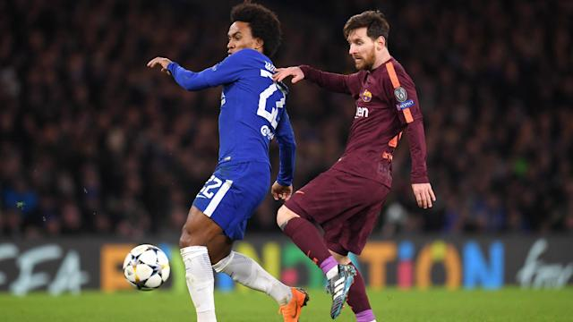 After helping Chelsea to a first-leg draw against Barcelona, attacker Willian talked up the LaLiga leaders.