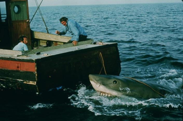 ET.0613.Jaws14.2–– Movie still from the the 30th Anniversary Editon of Jaws movie.