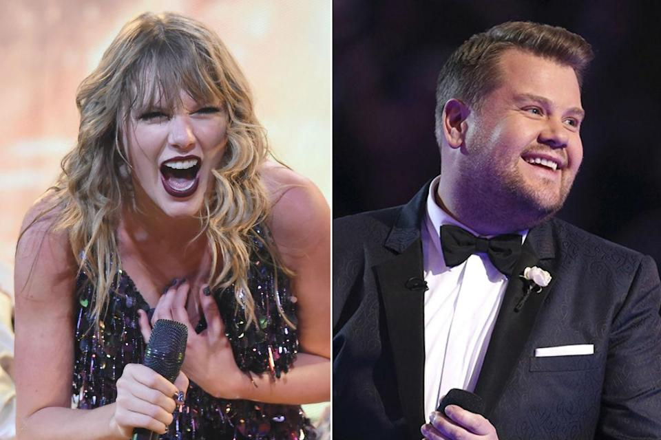 Taylor Swift and James Corden (Credit: Getty/AP)