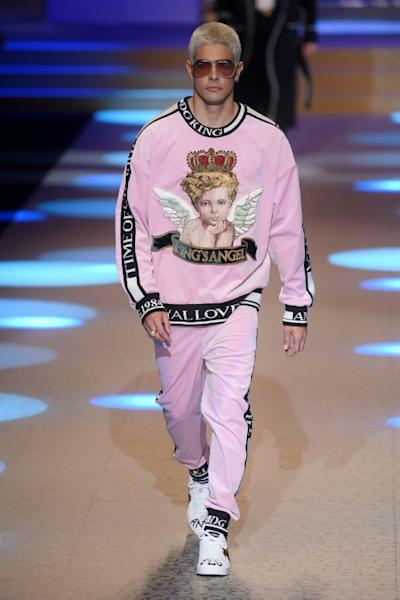 Angels appeared prominently in Dolce & Gabbana's show at Men's Fashion Week in Milan