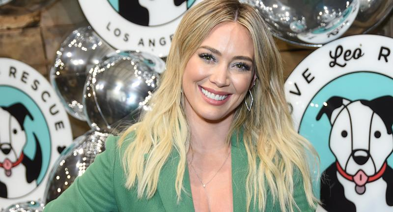Hilary Duff shared the products she uses to get ready as a busy mom of two . (Photo by Presley Ann/Getty Images)