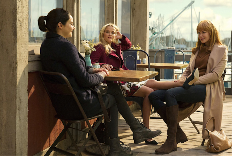 Nicole Kidman, Reese Witherspoon and Shailene Woodley star in HBO's Big Little Lies, set in sleepy Monterey, California. Photo: HBO